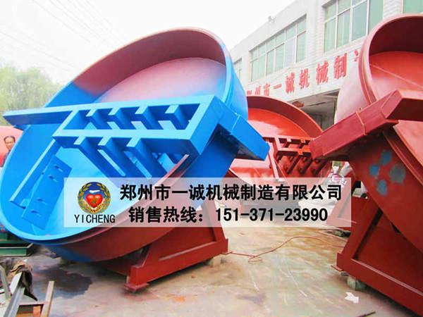 郑州市易胜博ysb248网址机械_圆盘造粒机_喷漆现场