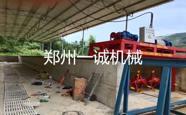 福建南平养殖场4米槽式翻堆机安装现场